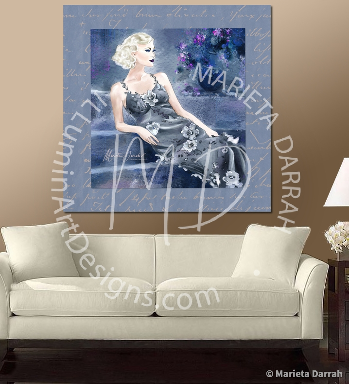 Lady-Blue-Wall-Art